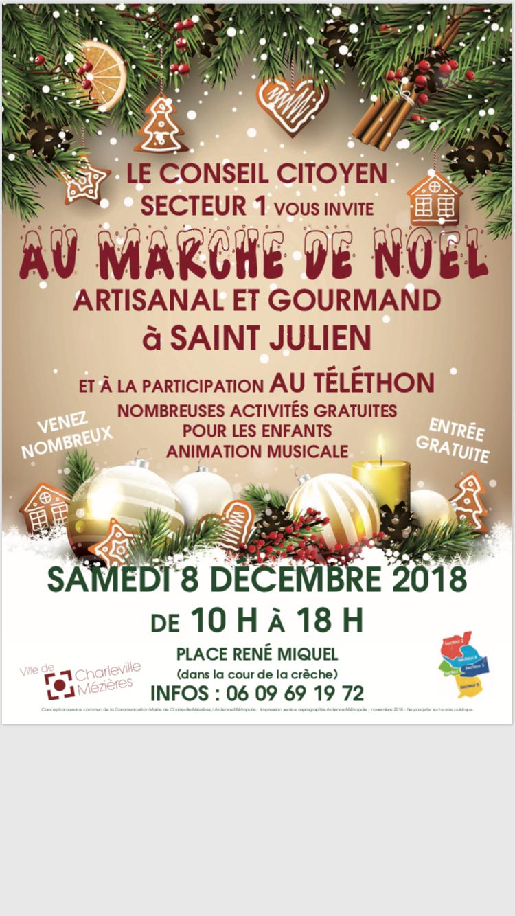 Marché de Noel à St Julien